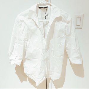 Zara white blouse stretchy